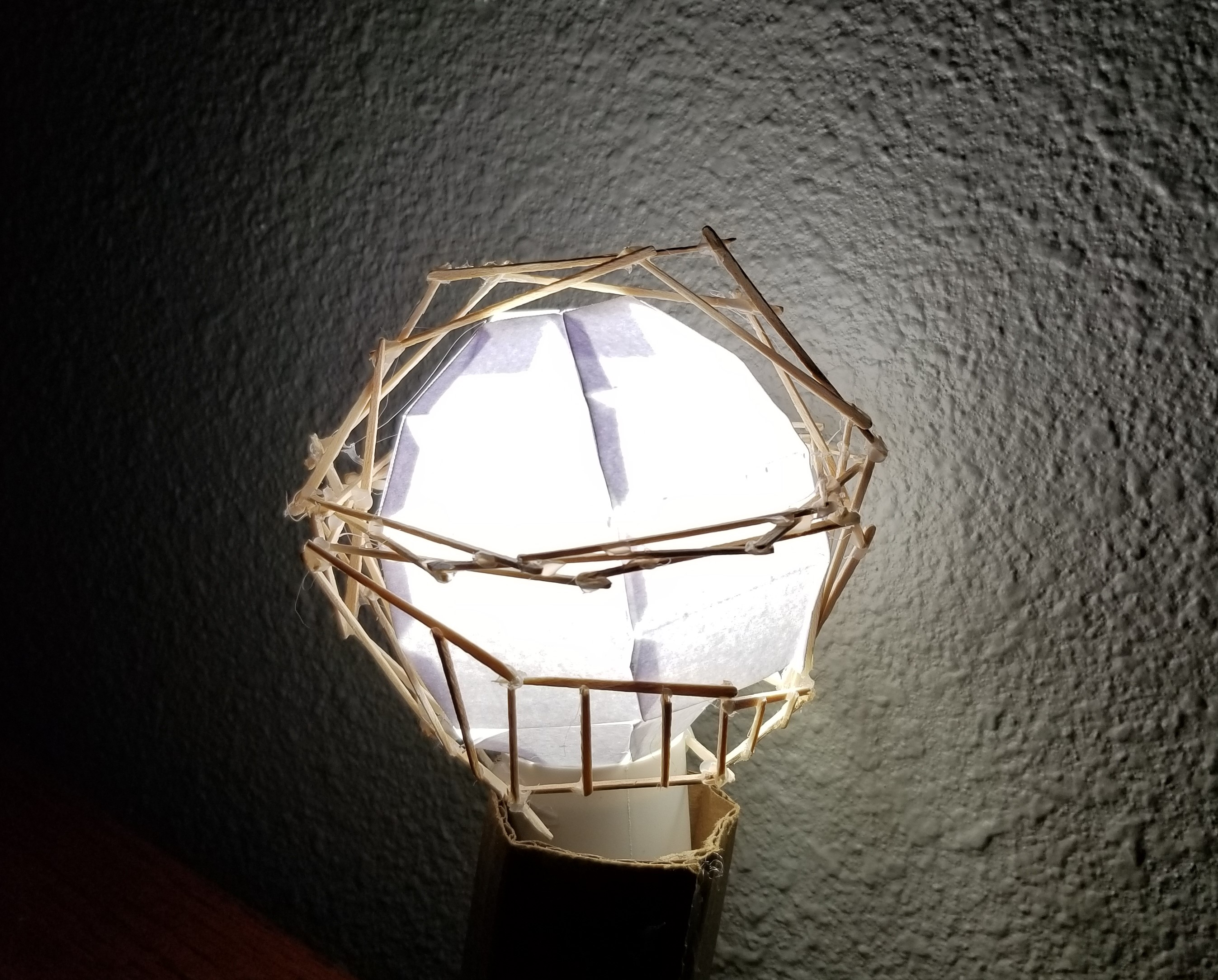 Upcycle Project: Sketchy Toothpick and Paper Lamp